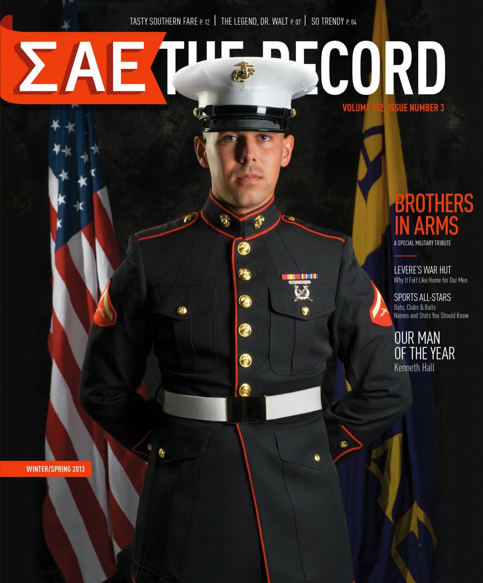 USMC Lance Corporal the on the cover of SAE magazine