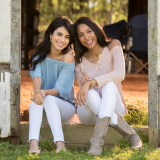 Lifestyle photography of two commercial print models
