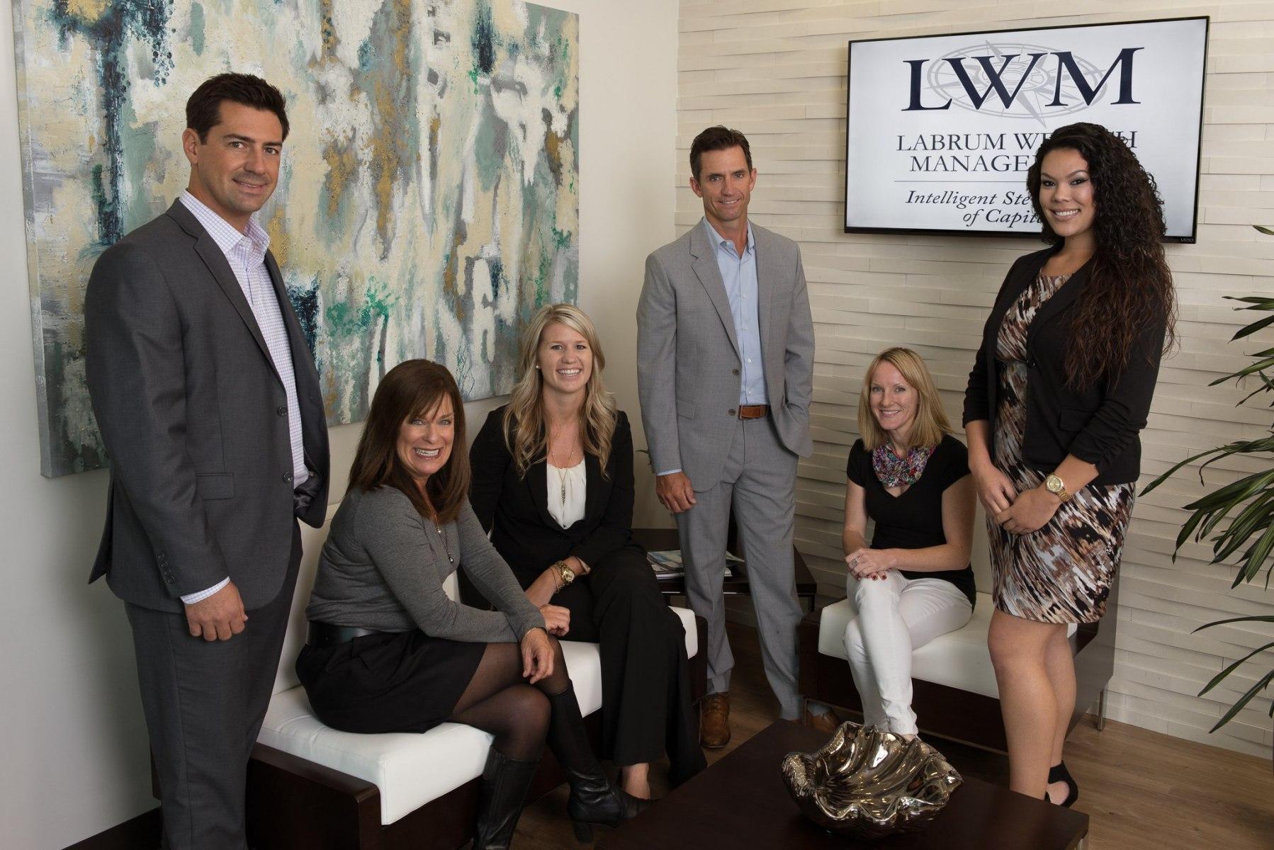 San Diego wealth management team group portrait
