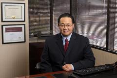 Portrait of executive at his desk