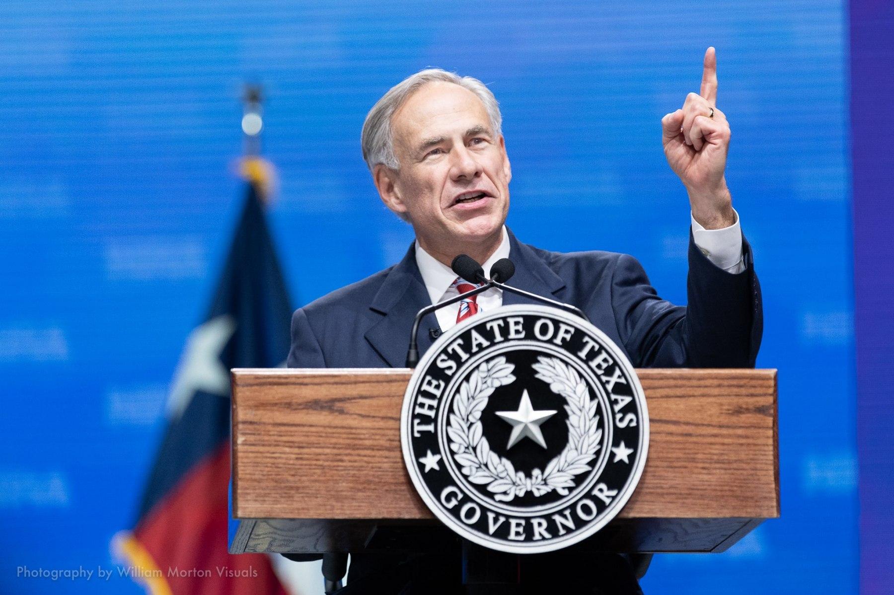Texas Governor Greg Abbott speaks