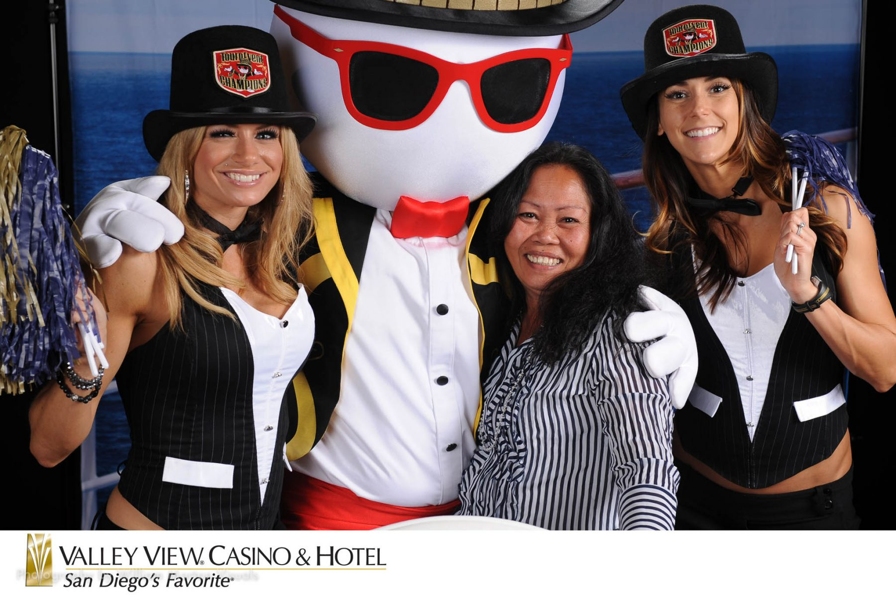 Casino event portraits printed on-site