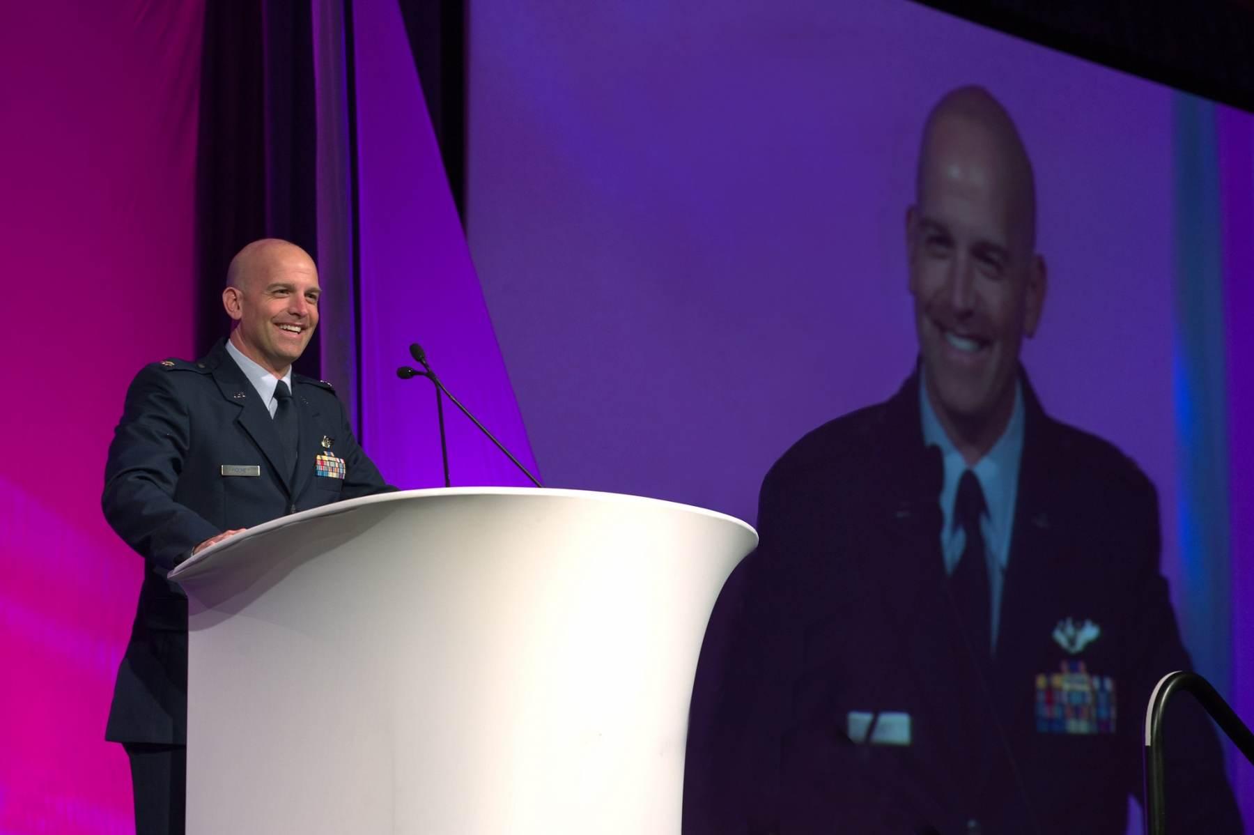 USAF Major Dan Rooney presents Folds of Honor