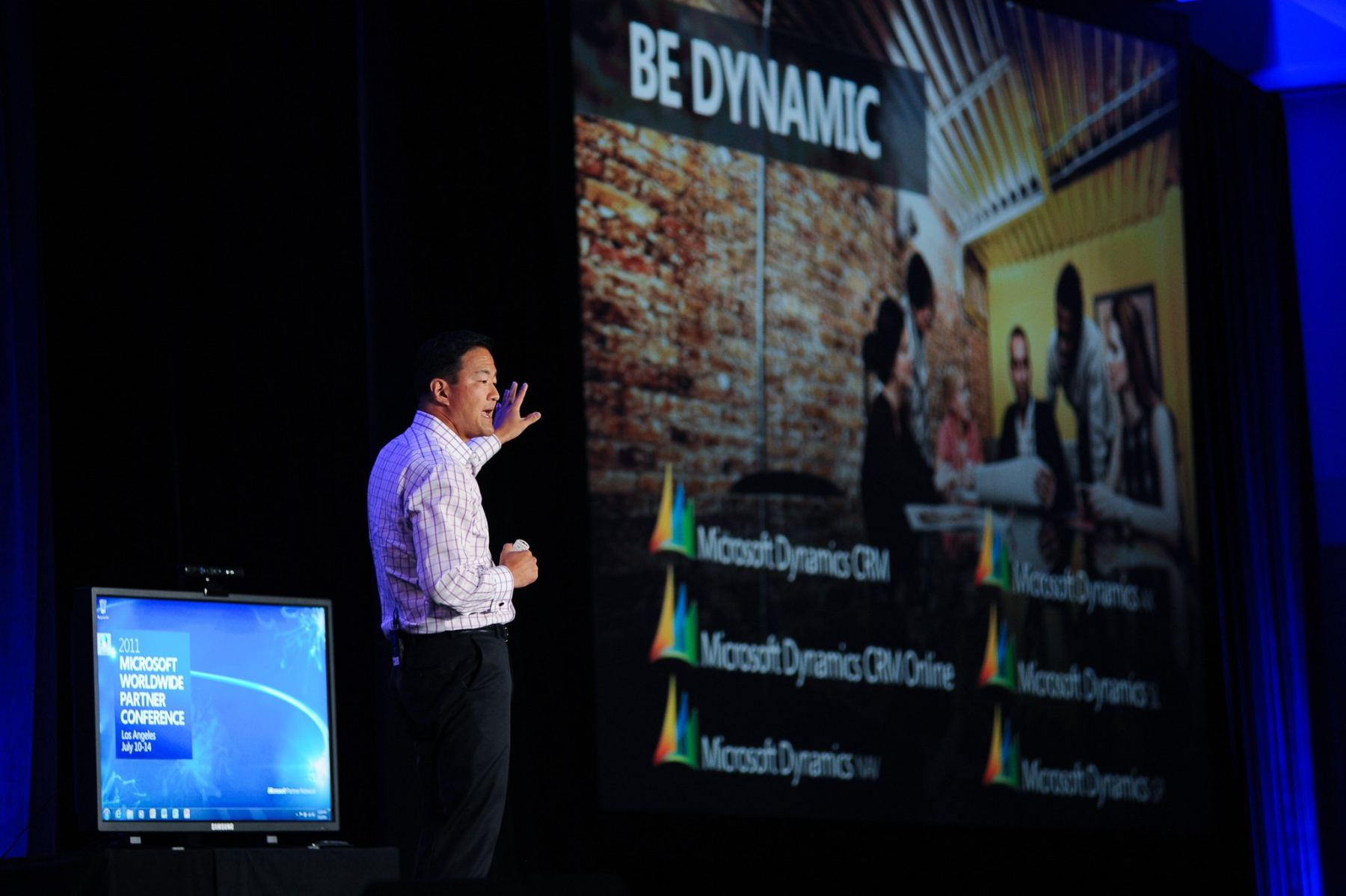 Microsoft VP Michael Park presents
