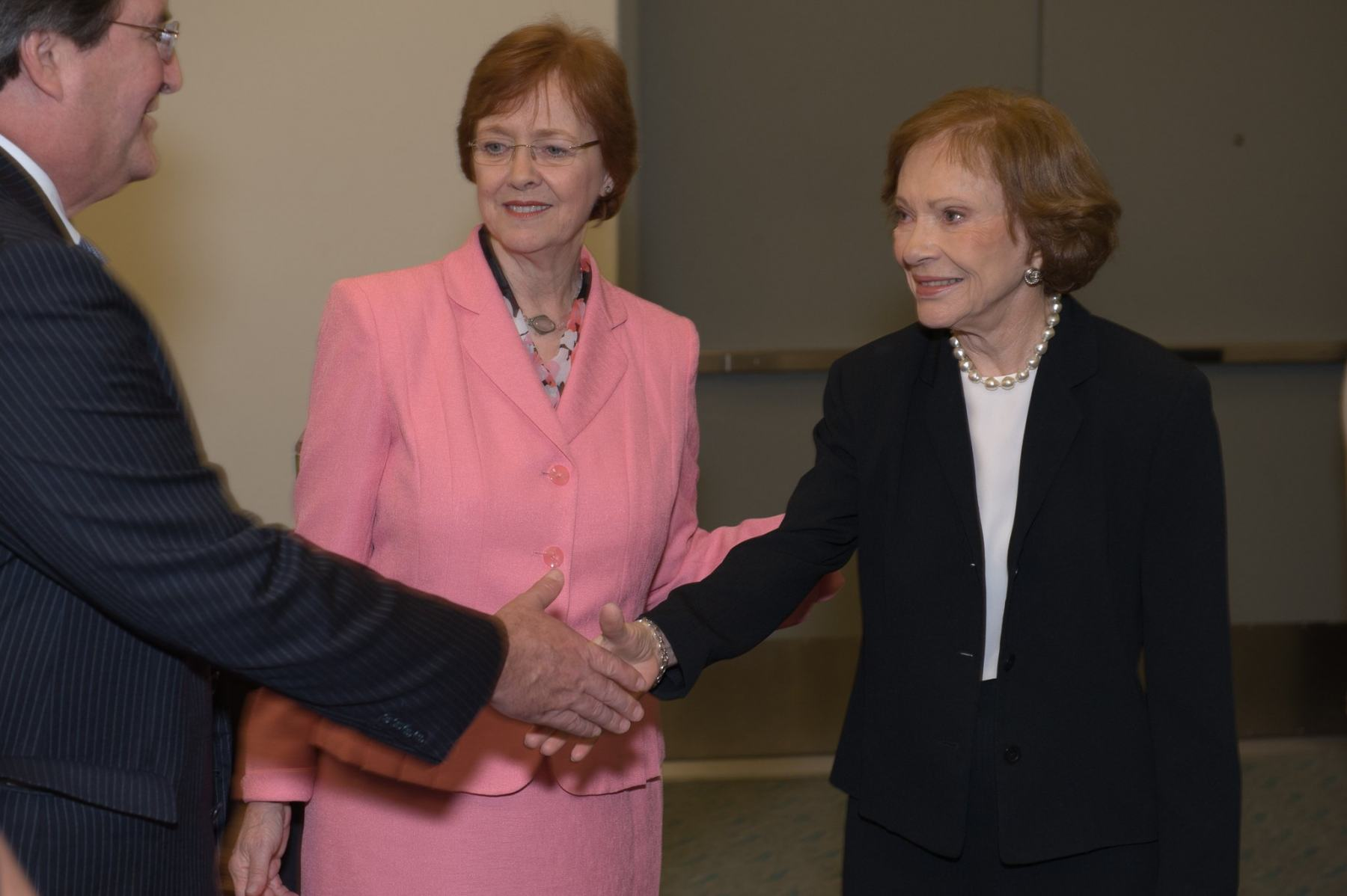 Former First Lady Rosalyn Carter greets guests