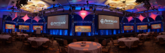 San Diego ballroom set for a convention awards banquet