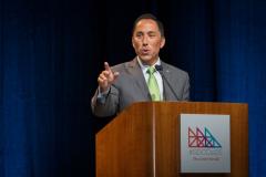 San Diego City Councilman Todd Gloria at the podium