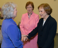 Former First Lady Rosalyn Carter meets guests