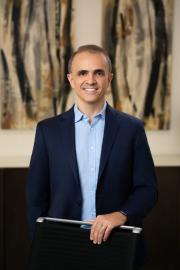 Executive portrait of CEO Carlos Vaz photographed in his Dallas Board room