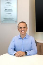 Executive portrait of CEO Carlos Vaz photographed in his Dallas conference room