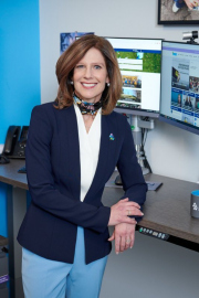 Executive lifestyle portrait photography of  CEO Susan Salka with her AMN Healthcare team.