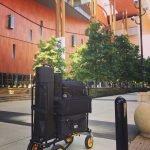Morton Visuals' equipment cart on location in Nashville