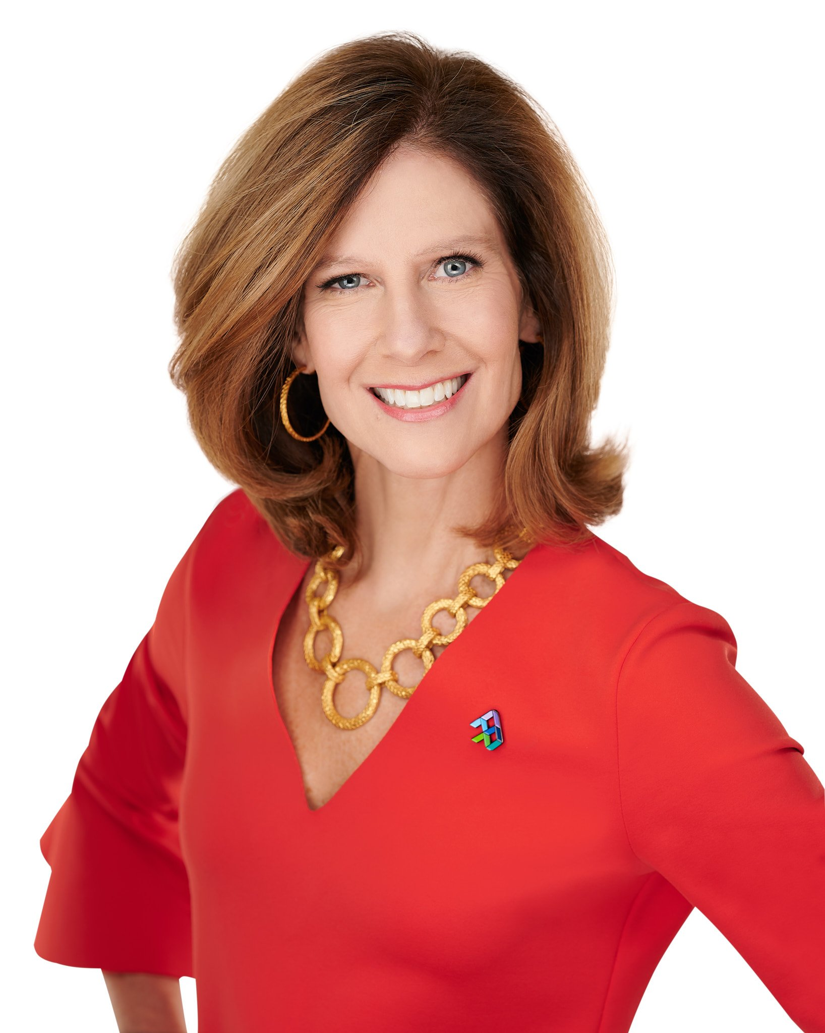 confident pose works well for this business portrait of Susan Salka