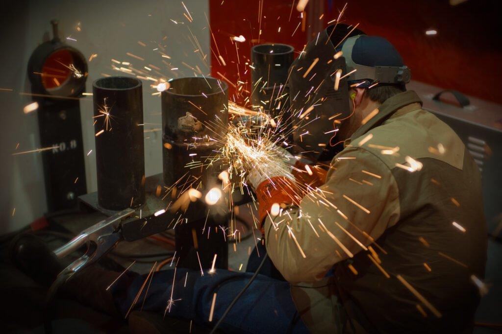 industrial photography - welder