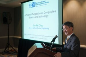 event photography captures Tsu-Wei Chou's presentation for ASME at San Diego's Manchester Grand Hyatt