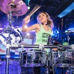 drummer pumps up the convention crowd at the Isagenix Celebration in Las Vegas