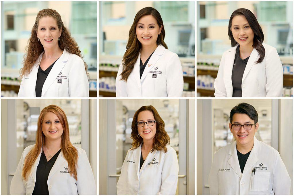 business headshots of a pharmacy team